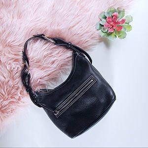 Black Leather Dooney & Bourke Bucket/ Shoulder Bag